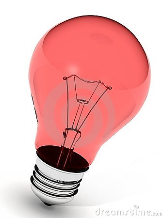 Free Perfect Red Light Bulb Royalty Free Stock Photography - 1834007