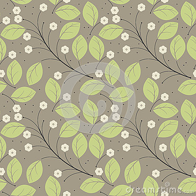 Free Perfect Spring Seamless Pattern With Green Leaves And Ivory Flow Stock Photo - 71429850