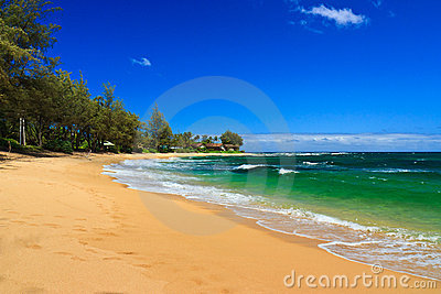 Perfect Tropical Beach, Kauai Hawaii