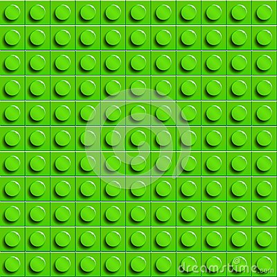 Free Perfect Vector Lego Background Of Closeup Plastic Gloss Construction Block. Green. Stock Photography - 108441452