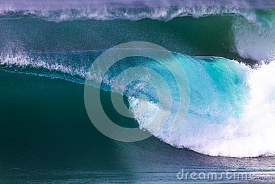 Perfect Wave Sea Blue White