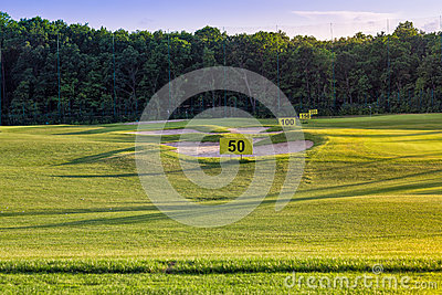 Perfect wavy grass on a golf field