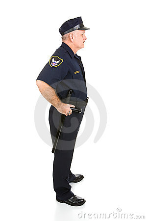 Perfil completo de la carrocería del oficial de policía