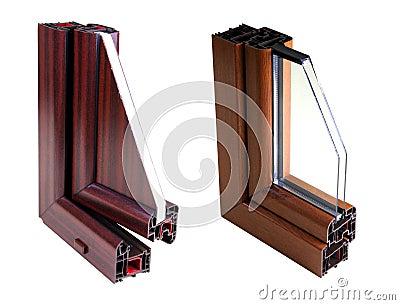 Perfil de la ventana del PVC