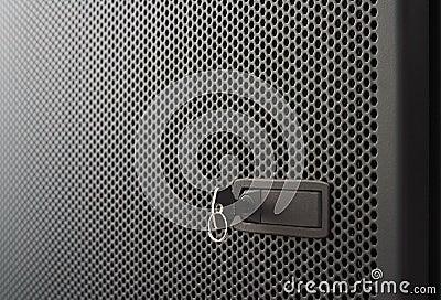 Perforated Metal Door Stock Photography Image 24599482