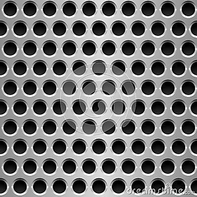 Perforated metal plate.