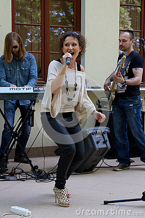 The performance of the band Agnessa Editorial Photo