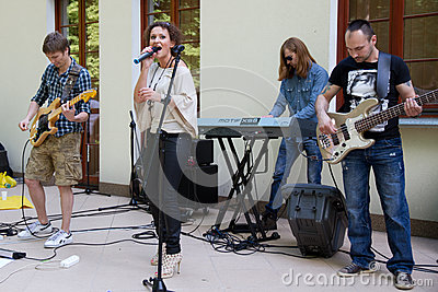 The performance of the band Agnessa Editorial Image