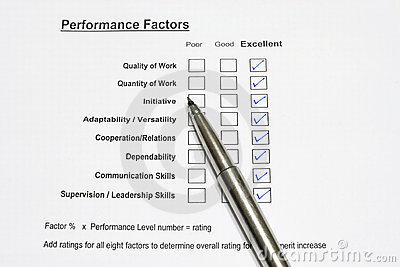 Performance Evaluation Form Photo Image 3340540 – Performance Evaluation