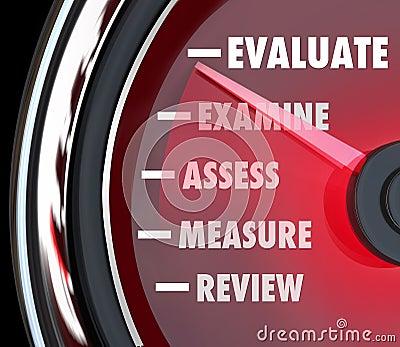 Performance Review Evaluation Speedometer Gauge