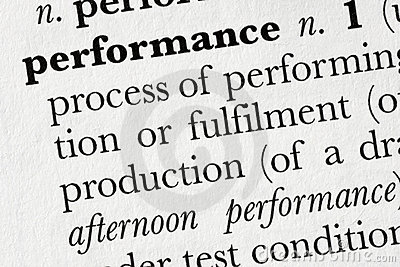 Performance word dictionary de