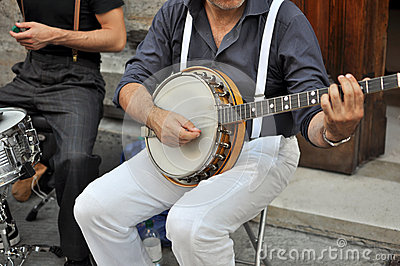 Performer with Banjo