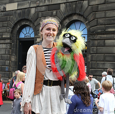 Performer during Edinburgh Fringe Festival Editorial Photography