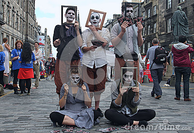 Performer during Edinburgh Fringe Festival Editorial Stock Photo