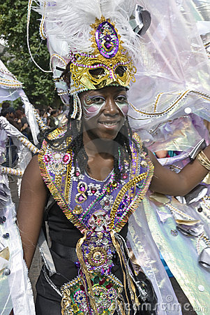 Performer at the Notting Hill Carnival 2010 Editorial Stock Image