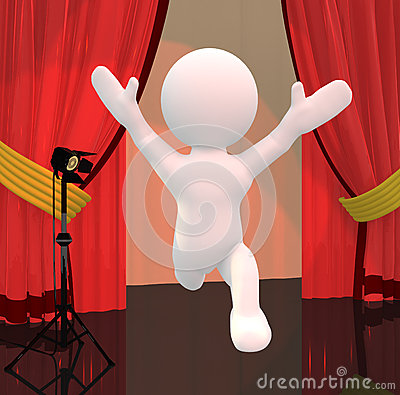 Performer on stage