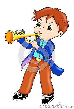 Performer of trumpet