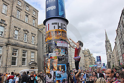 Performers at Edinburgh festival Editorial Photography