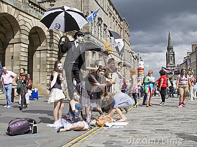 Performers at Edinburgh Festival Editorial Stock Photo