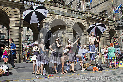Performers at Edinburgh Festival Editorial Photo