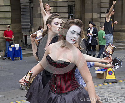 Performers at Edinburgh Festival Editorial Stock Image