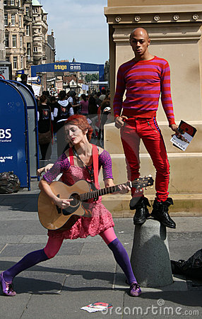 Performers Edinburgh festival Editorial Stock Photo