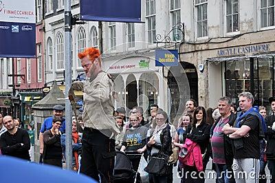 Performers at Edinburgh Editorial Stock Photo