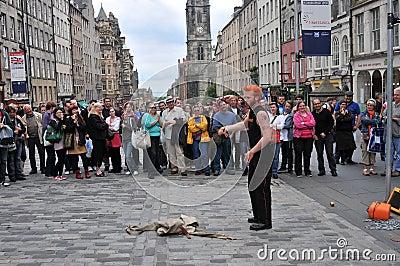 Performers at Edinburgh Festival Editorial Photo
