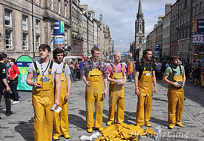 Performers at Edinburgh Fringe Festival Editorial Photography
