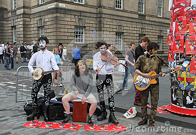 Performers during Edinburgh Fringe Festival 2012 Editorial Photography