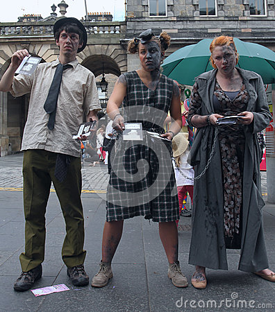 Performers during Edinburgh Fringe Festival Editorial Image