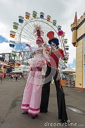 Performers Luna Park Editorial Stock Photo