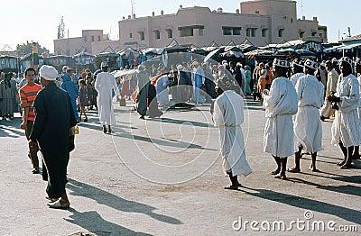1974. Morocco. Performers, Marrakesh. Editorial Stock Photo