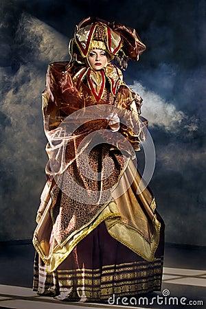Performers in  Venetian costume