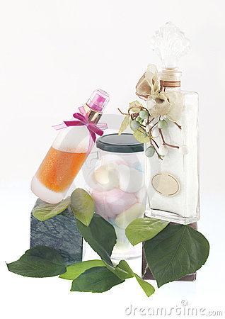 Perfume and accessories of bathroom