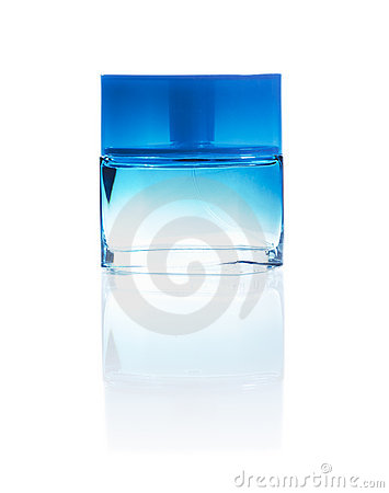 Perfume bottle isolated on white