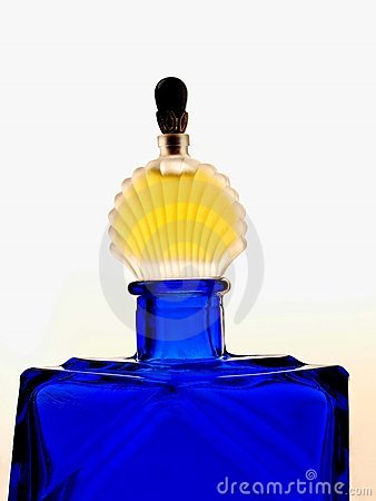 Perfume Bottle on White