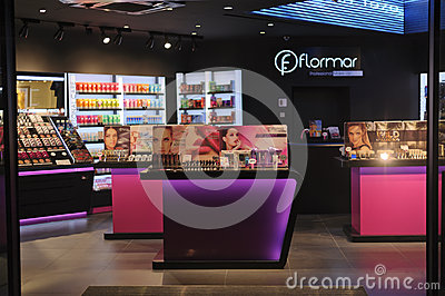 Perfume and cosmetics boutique Editorial Stock Image