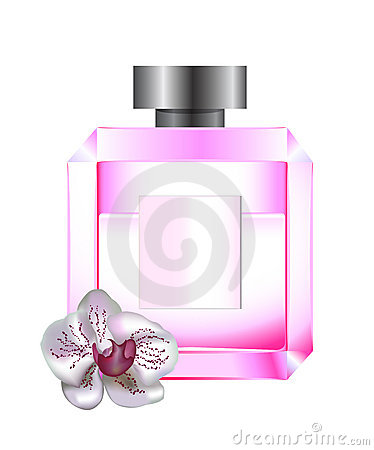 Perfume with white orchid