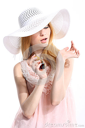 Perfume woman wrist