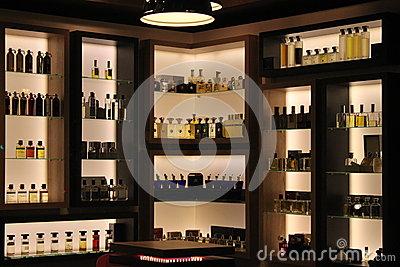 Perfumes in store Editorial Stock Image