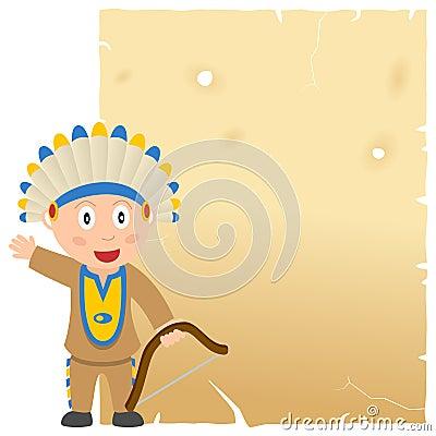 Pergamena indiana e vecchia