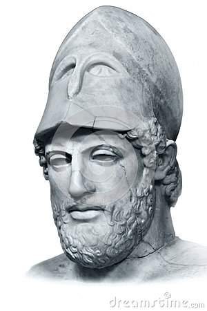 Pericles bust isolated