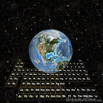 PeriodicTable - Earth in Space-Western Hemisphere