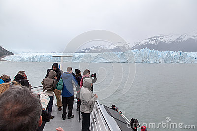 Perito Moreno Glacier Argentina Editorial Photo