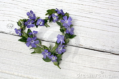Periwinkle floral heart