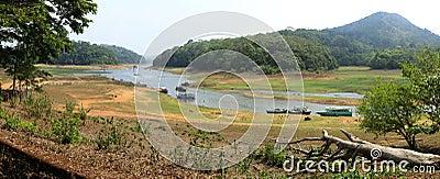 Periyar Lake, Kerala, panorama