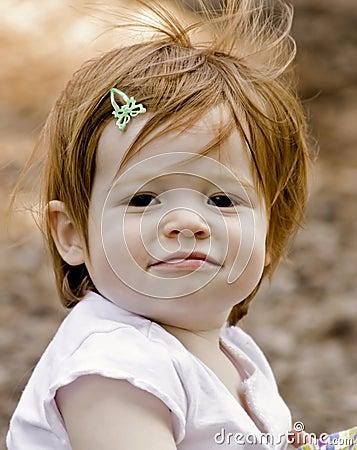 Free Perky Little Girl Stock Image - 9075891