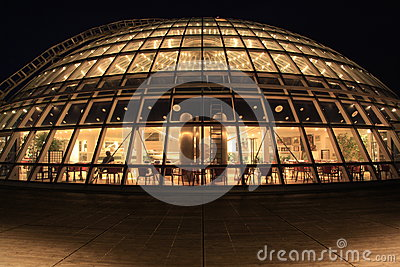 Perlan glass dome at night, Reykjavik, Iceland