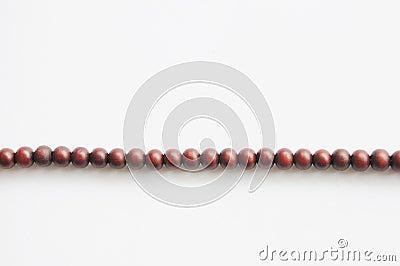 Perles de prière en bois